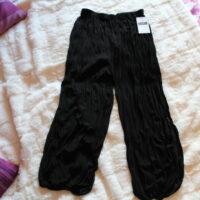 Pantalon froncé noir