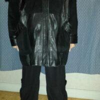 Manteau femme en cuir