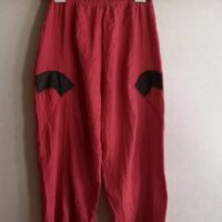 Pantalon rouge (3) grande taille