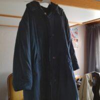 Manteau bleu foncé léger en soie