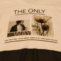 T-Shirt blanc, manches courtes, avec imprimé